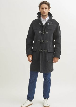 SATURNE II duffle coat homme Saint James laine chiné