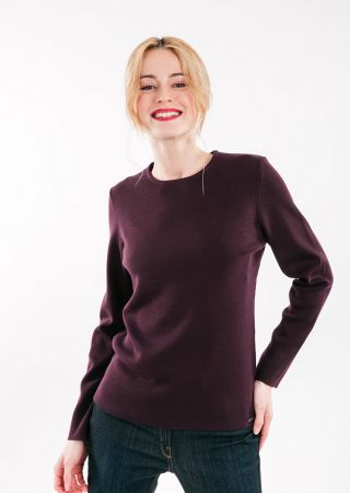 LAGNY Pull col rond 100% laine douce maille fine
