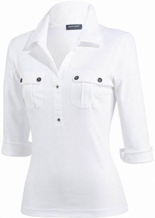OLERON tee shirt femme col polo Saint James