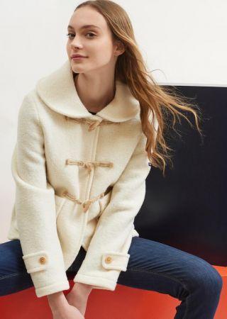 SAVOIE Duffle-coat court en pure laine bouillie