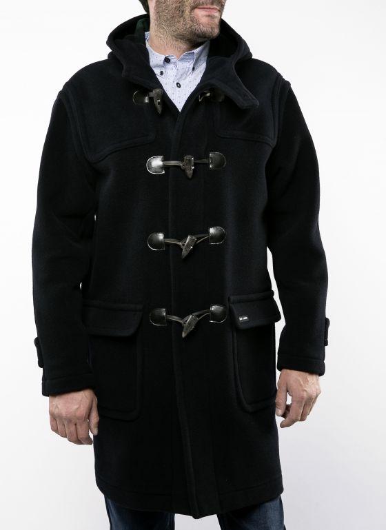 antarctique duffle coat saint james homme laine cabans. Black Bedroom Furniture Sets. Home Design Ideas