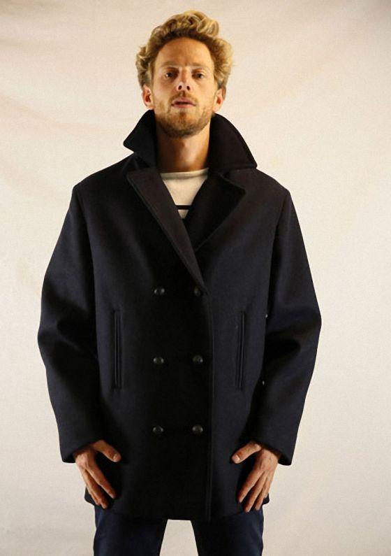 pavois caban homme saint james pure laine cabans duffle coats les manteaux homme le. Black Bedroom Furniture Sets. Home Design Ideas