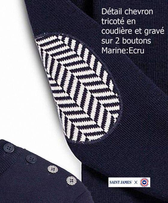 Marine / Ecru