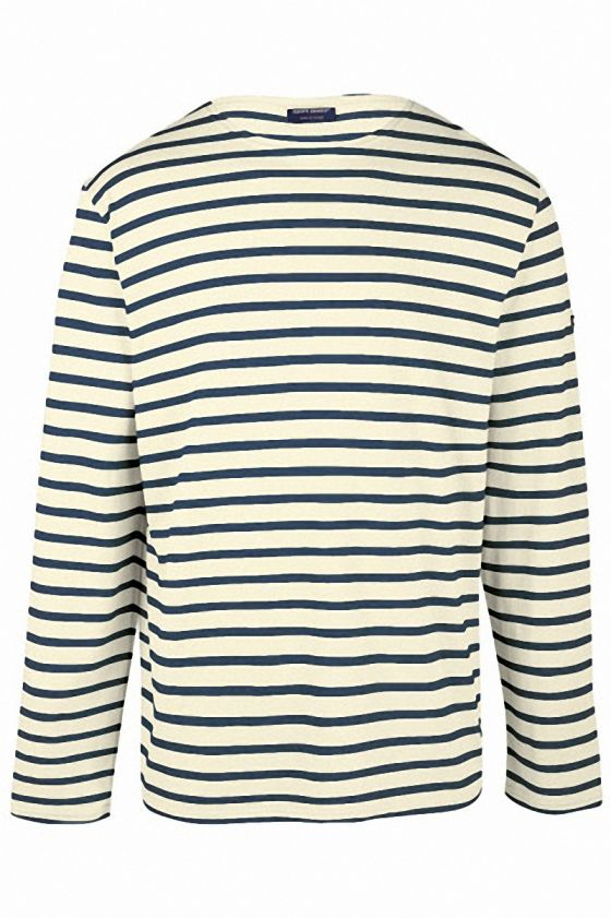 Homme Shirt Saint Tee Minquiers Marin Moderne James Rayé 0OwnPk